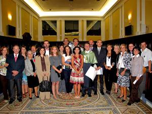 Lucas Domínguez, with his friends of VISAVET-UCM centre